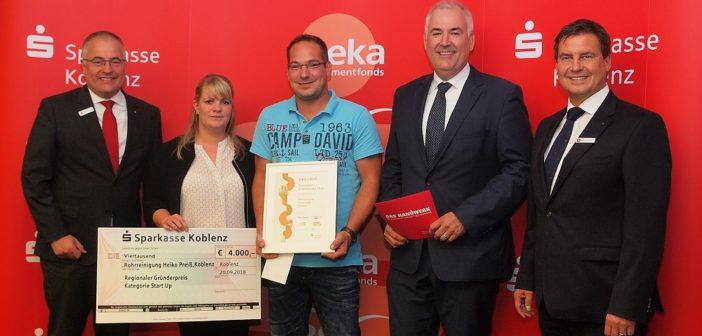 Rohrreinigung Heiko Preiß mit dem Gründerpreis ausgezeichnet