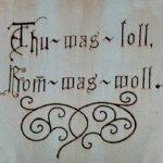 """""""Fassadeninschrift"""" Aachener- Ecke Alemannenstraße - Wilfried Mohr"""