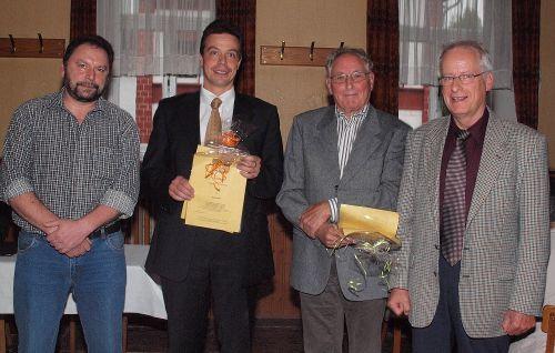 V.l.n.r.: Karl-Heinz Rück, Andreas Biebricher, Georg Dötsch und Helmut Schuch